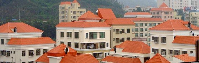 Synthetic resin roof tile project Shenzhen  2.5mm  20000M2