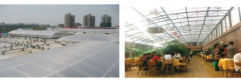 Redwave eco-friendly polycarbonate roof with good price for ocean hall-1