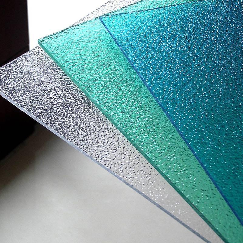Redwave Polycarbonate embossed sheet raindrop texture