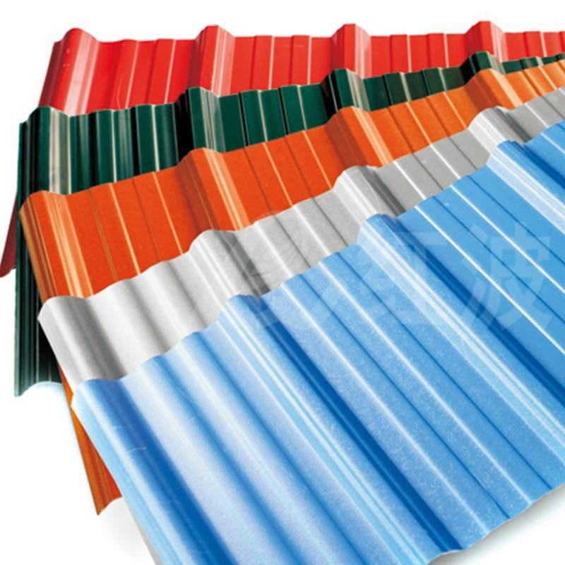 Redwave ASA PVC roofing sheet , long lifetime, heat insulation, corrosion resistance, color lasting