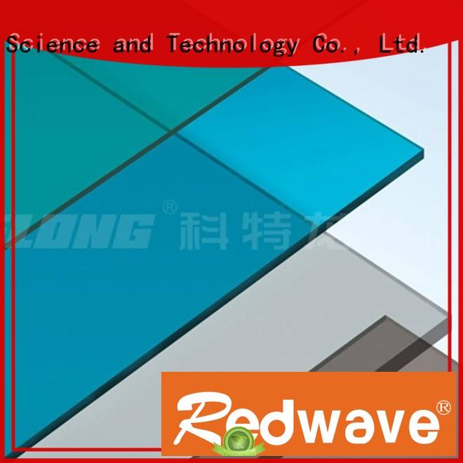 raindrop polycarbonate roofing sheets certifications for scenic buildings Redwave