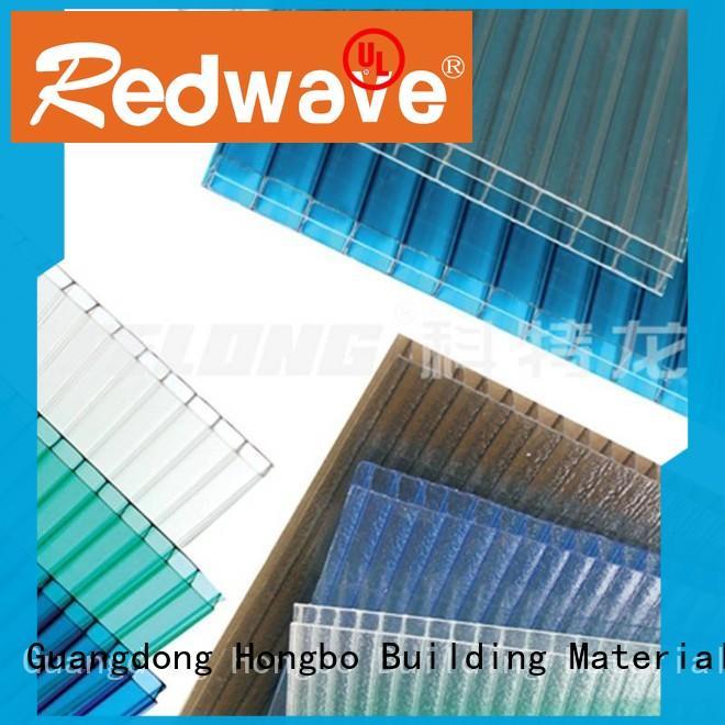 Redwave polycarbonate polycarbonate panels in bulk for scenic buildings