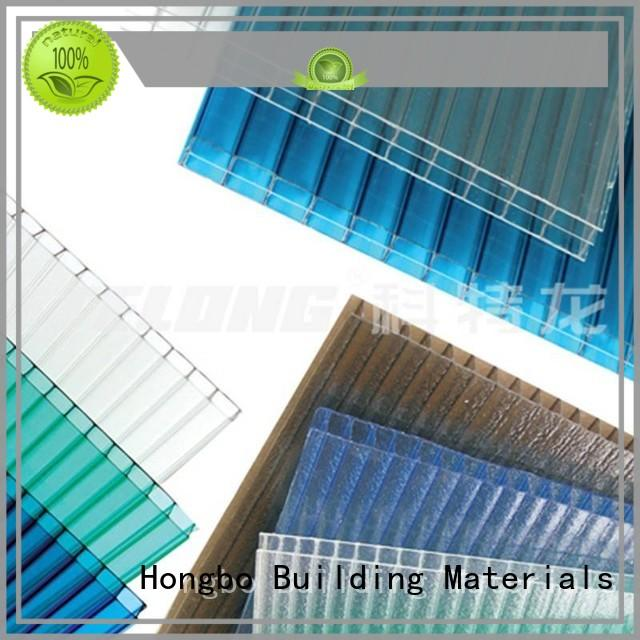affordable polycarbonate roof hollow with certification for residence
