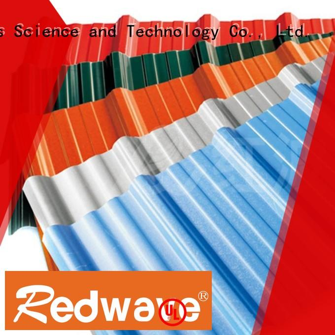Redwave eco-friendly corrugated roofing for-sale for ocean hall