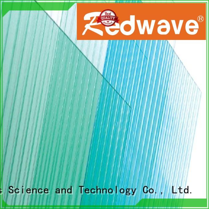 3.0mm Custom solid quality 1.5mm polycarbonate roofing sheets Redwave embossed