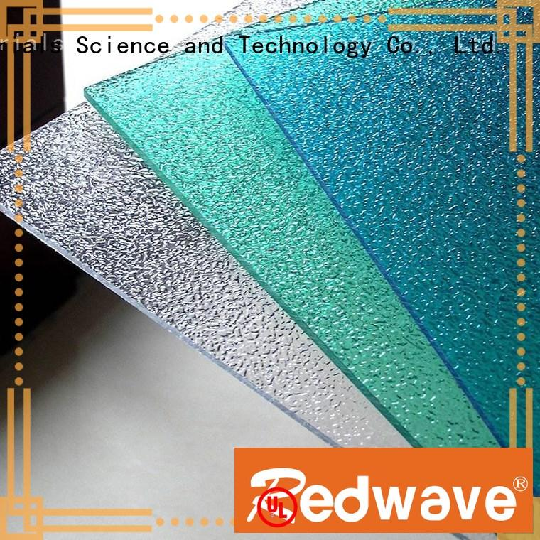 1.5mm Custom sheet frosted polycarbonate roofing sheets Redwave 0.8mm