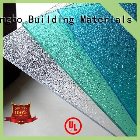 strong polycarbonate panels texture in bulk for residence