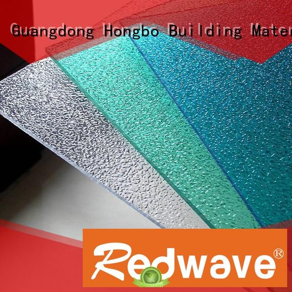 1.0mm embossed Redwave Brand polycarbonate roof sheeting prices factory