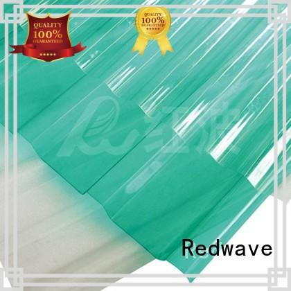 Redwave durable polycarbonate roof in bulk for scenic buildings