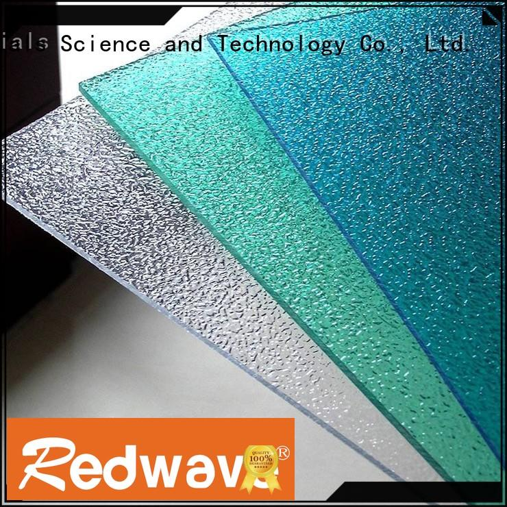 Redwave texture polycarbonate panels from China for housing