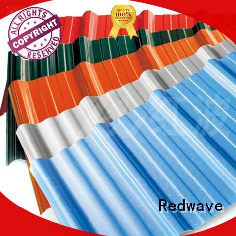 Redwave high quality corrugated plastic roofing directly sale for workhouse