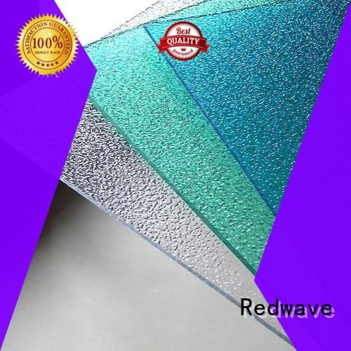 Redwave corrugated clear polycarbonate sheet with good price for factory