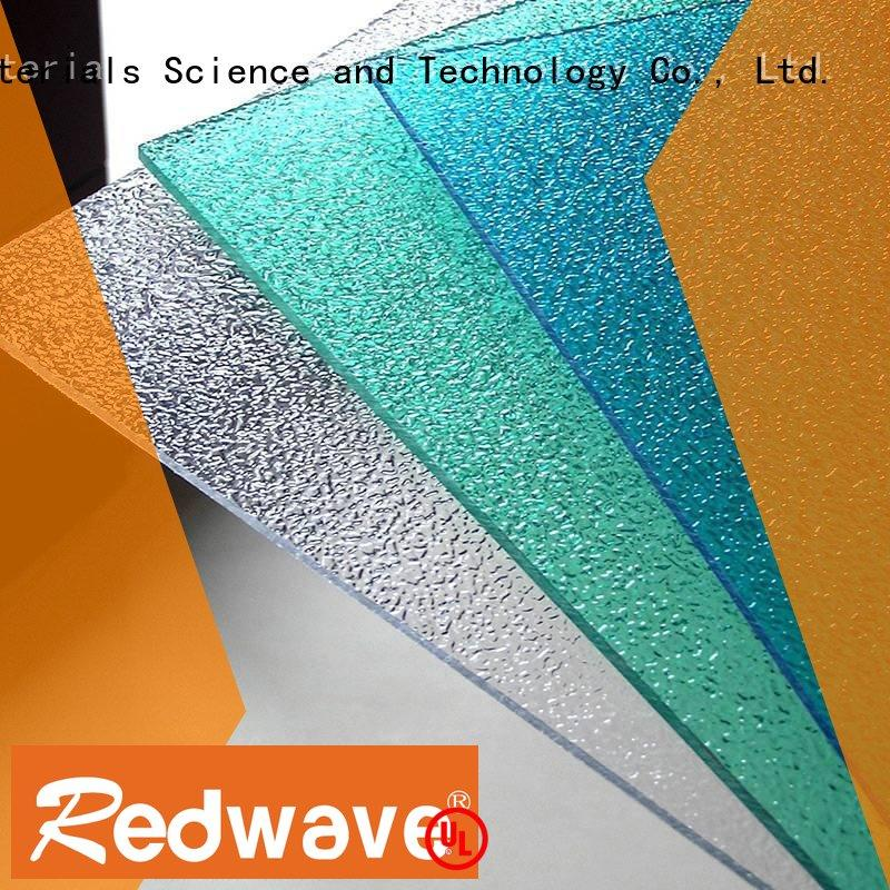 green polycarbonate 0.8mm Redwave Brand polycarbonate roof sheeting prices factory