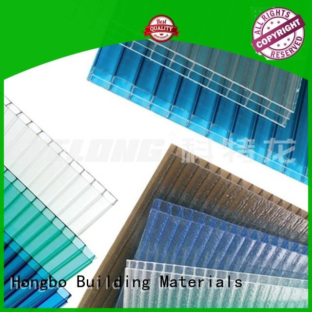 Redwave polycarbonate roofing sheets factory price for scenic buildings
