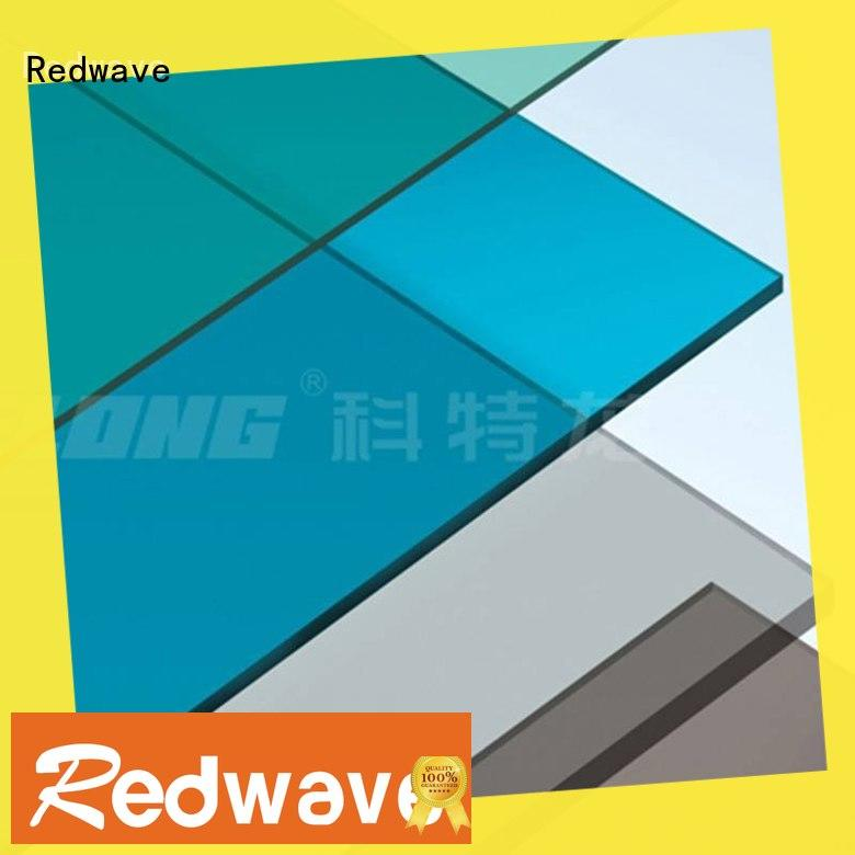 Redwave eco-friendly polycarbonate roof with certification for workhouse