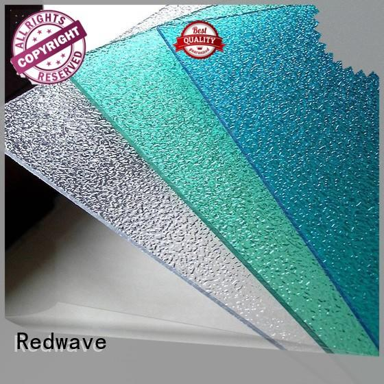 Redwave embossed plexiglass sheets from China for workhouse
