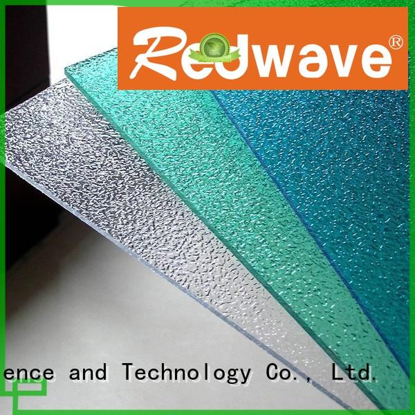 Hot polycarbonate roofing sheets hollow Redwave Brand
