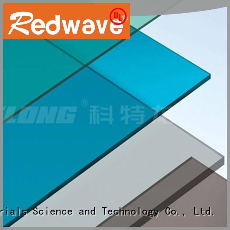 Redwave strong clear polycarbonate sheet from China for housing