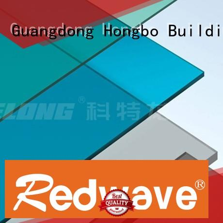 Redwave Brand strip polycarbonate roofing sheets green factory