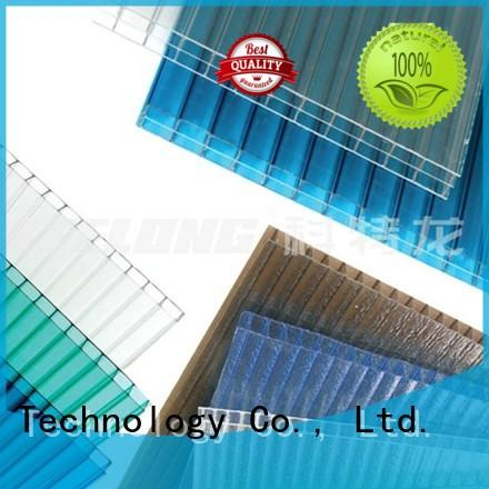 green 1.5mm OEM polycarbonate roofing sheets Redwave