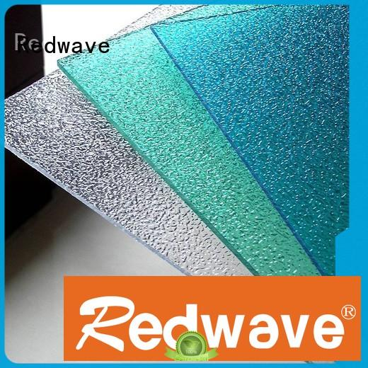 Redwave inexpensive polycarbonate sheet in bulk for factory