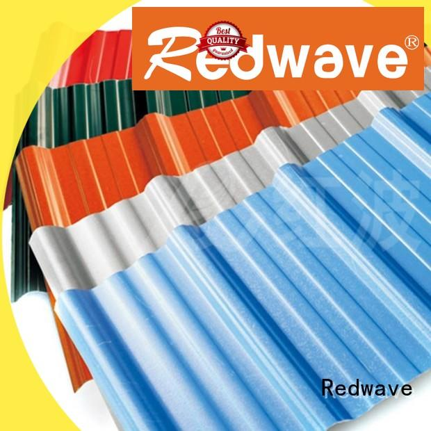 Redwave upvc corrugated plastic roofing sheets directly sale for workhouse