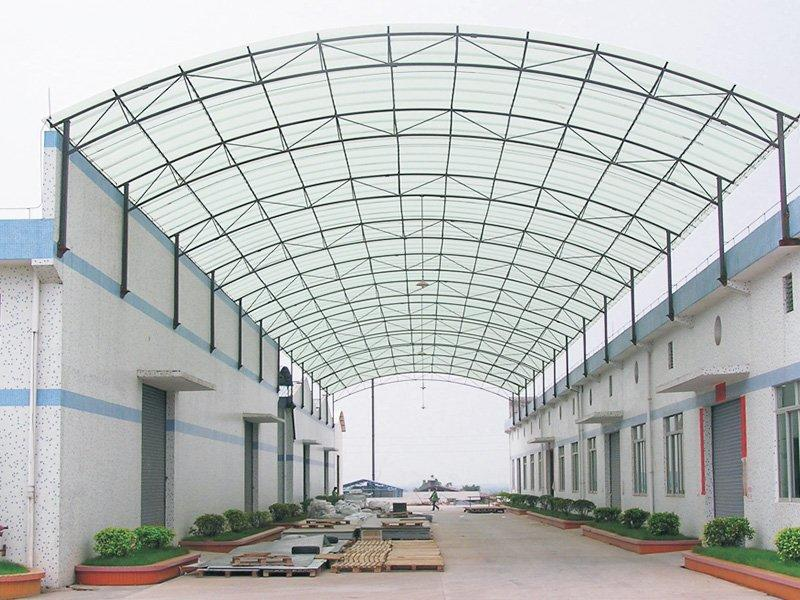 FRP roofing sheet project in Foshan  1.2mm , 3000M2