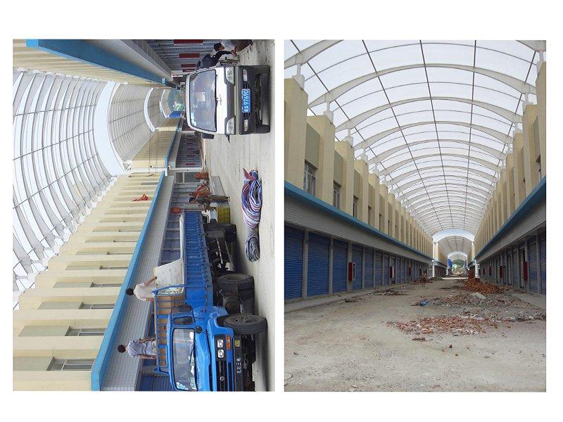 PC hollow sheet project in Guangzhou , 10mm , 8000M2