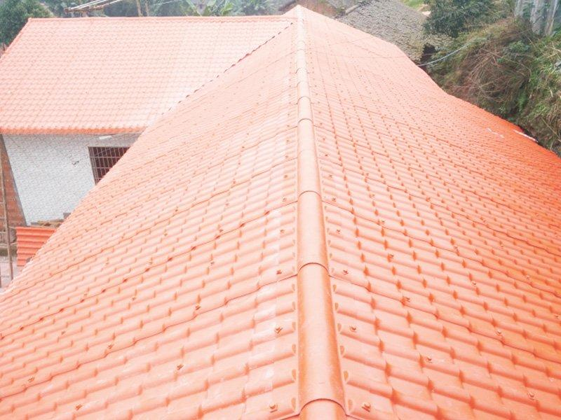 Synthetic resin roof tile project  in Tibet, 3.0mm , total 100000M2