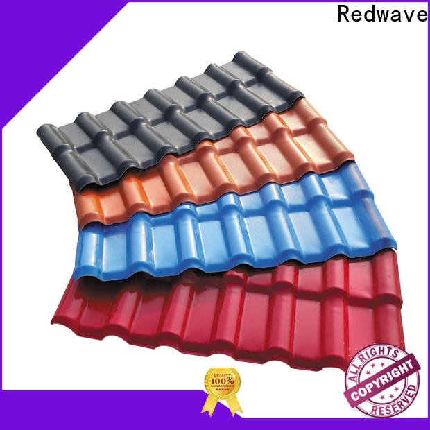Redwave lasting resin roof tiles certifications for residence