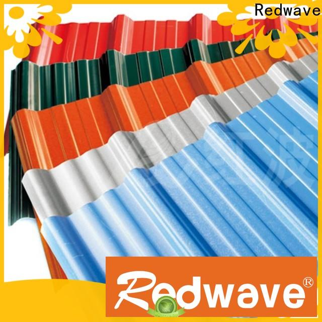 Redwave lifetime corrugated plastic roofing sheets factory price for factory