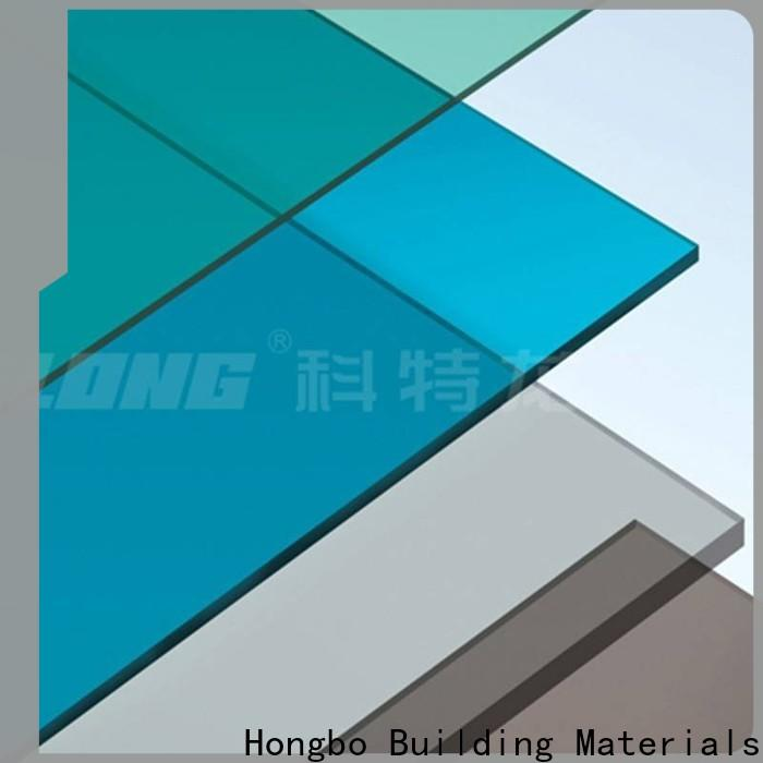 clear polycarbonate sheet solid with good price for factory