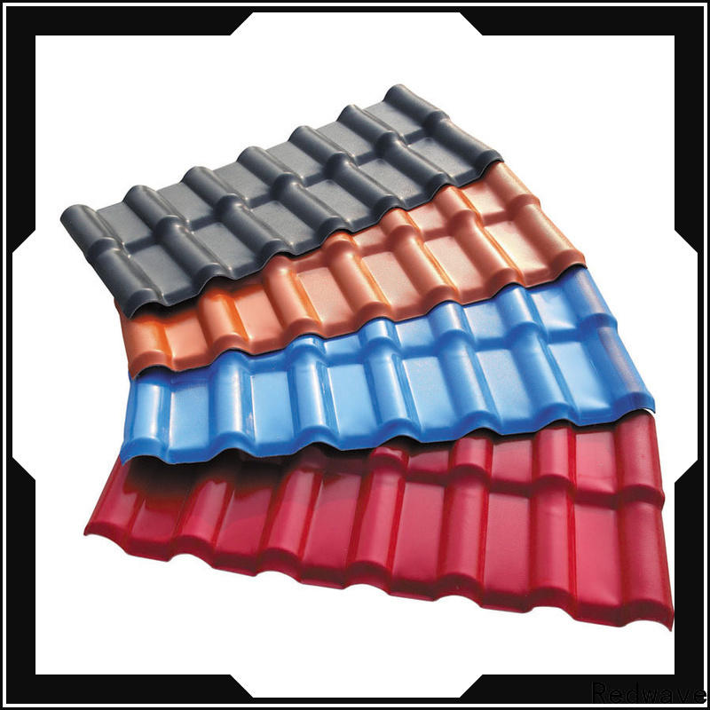 Redwave inexpensive synthetic resin roof tile for scenic buildings
