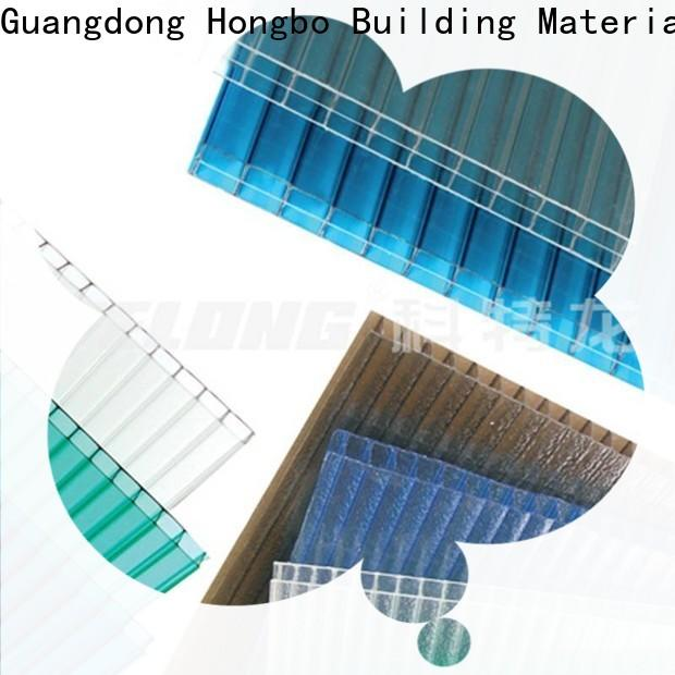 eco-friendly clear polycarbonate sheet diamond with certification for scenic shed