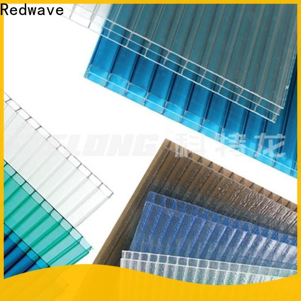 Redwave raindrop polycarbonate roofing sheets certifications for factory