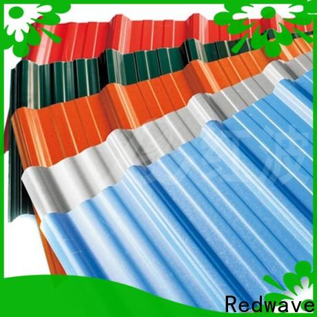 Redwave lasting corrugated plastic roofing sheets for-sale for workhouse