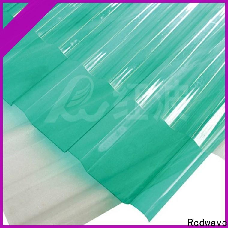 polycarbonate sheet embossed in bulk for scenic shed