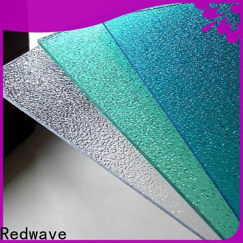 Redwave solid polycarbonate roof with certification for factory