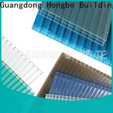 best-selling polycarbonate panels striped with certification for factory
