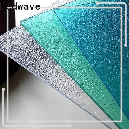 Redwave redwave polycarbonate panels with certification for scenic shed
