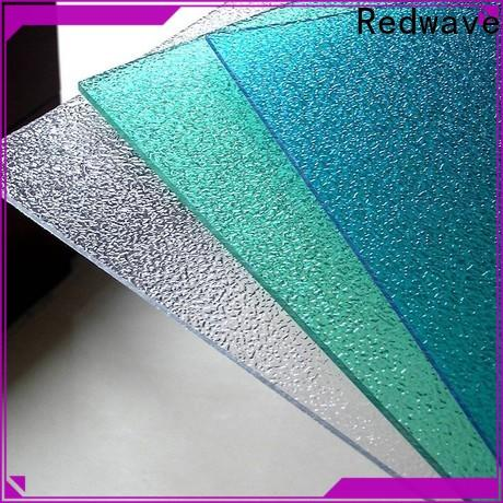 Redwave best-selling polycarbonate sheet with good price for scenic buildings