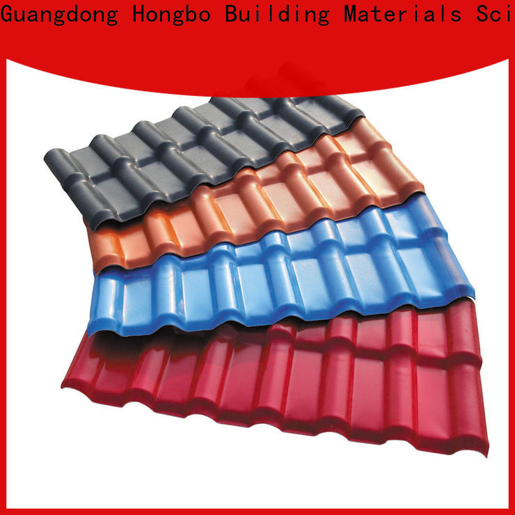 Redwave corrosion synthetic resin roof tile with cheap price for scenic buildings