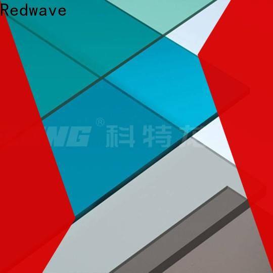 Redwave solid polycarbonate roofing sheets factory price for scenic buildings
