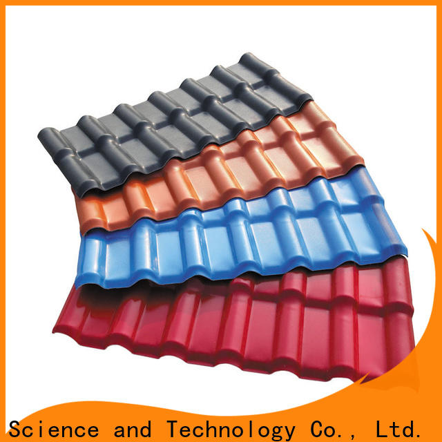 Redwave lasting synthetic resin roof tile with good price for workhouse