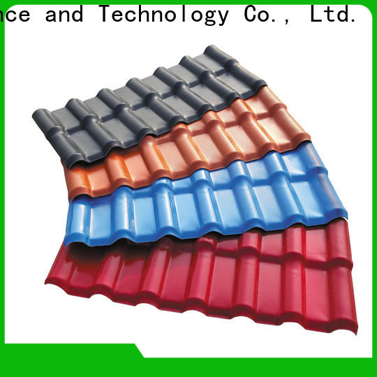 Redwave durable plastic roof tiles with certification for scenic shed