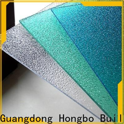best-selling clear polycarbonate sheet diamond certifications for scenic buildings