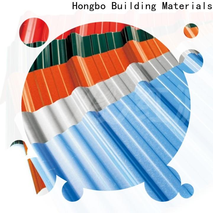 Redwave corrosion corrugated plastic roofing sheets factory price for ocean hall