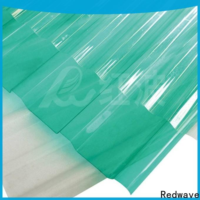 Redwave corrugated clear polycarbonate sheet with certification for scenic buildings