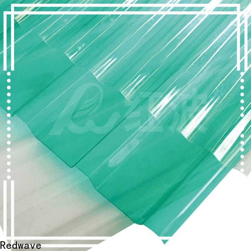 Redwave hollow polycarbonate roof factory price for scenic buildings
