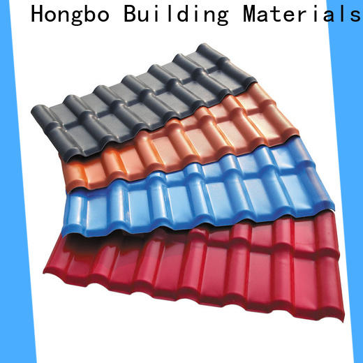 Redwave strong synthetic resin roof tile with good price for ocean hall